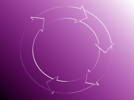 Purple background with recycle circle or flowing scheme