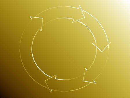 Gold background with elegance of recycle or flowing system photo