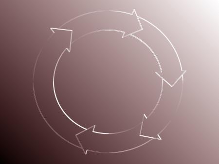 地味な部分の矢印を持つ円のエレガントなグラフィックス 写真素材 - 13792438