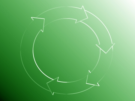 Recycle, rhythm, flows, green, circle, arrows, scheme, abstract, background photo