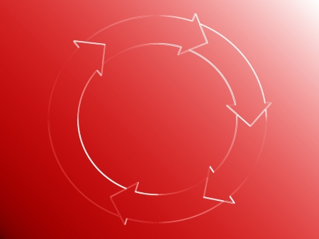 Red, circle, arrows, circulation, flowing, circular, cyclic, background photo