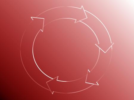 sobrio: Sobrio sutil representaci�n gr�fica de un rojo flujo del sistema Foto de archivo