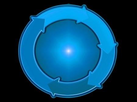 schemes: Blue, spher, circle, arrow, arrows, flow, rotation, graphic, scheme, diagram Stock Photo
