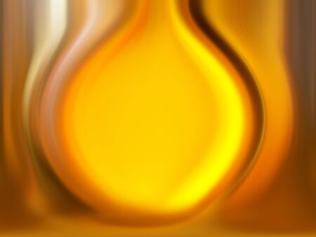 liquid state: Incandescent gold drop in liquid state Stock Photo