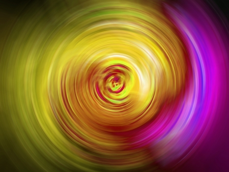 spirals: Circular lights in yellow and pink purple as abstract background