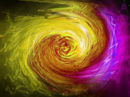 Clockwise colorful trembling swirl of light, background photo