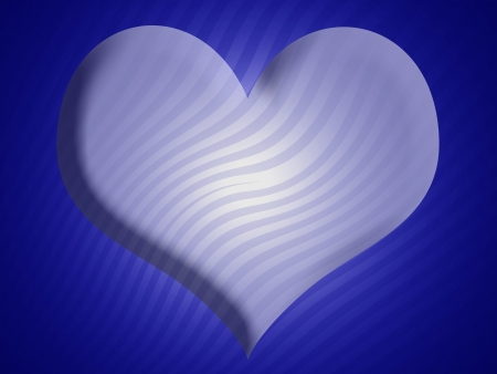 Light blue 3d heart shape over darker background photo