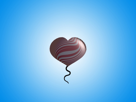 spermatozoid: Romantic fancy floating balloon with space for text Stock Photo