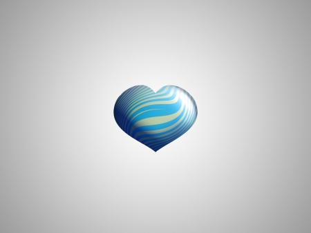 aniversaries: Masculine sober blue striped heart balloon over silver