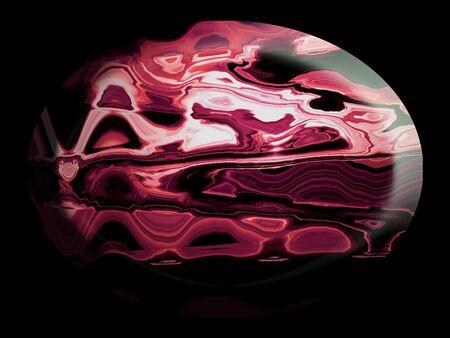 spherized: Red jasper stone polished in oval shape