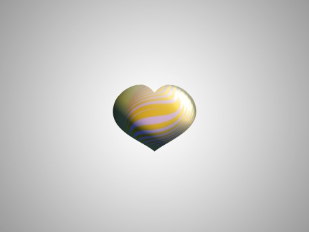 White and yellow heart balloon sober centered in grey background photo