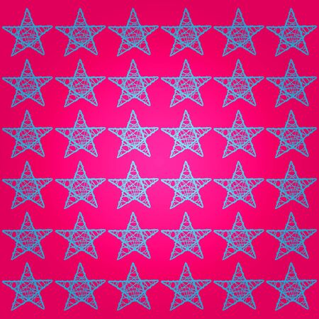 Brilliant pink background with blue stars Stock Photo - 13839100