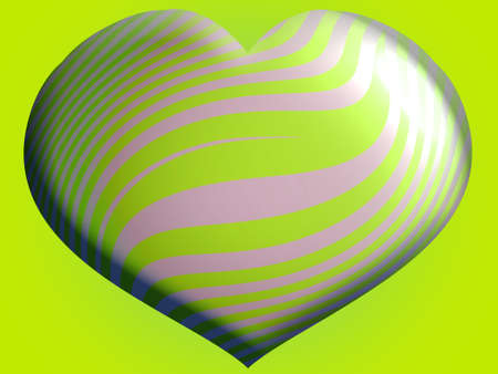 Lemon green brilliant funky heart balloon Stock Photo - 13837810