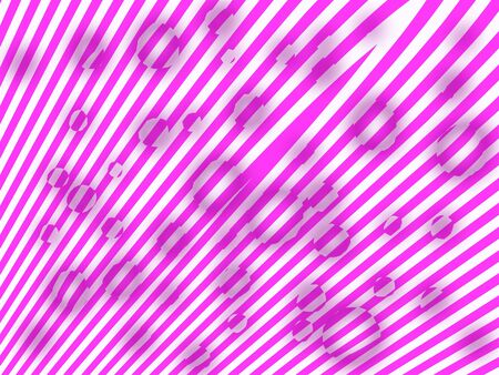 Ices melting over fanky striped background in pink and white photo