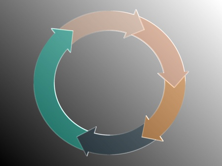 rotations: Incomes flow graphic of circular arrows, sober and elegant Stock Photo