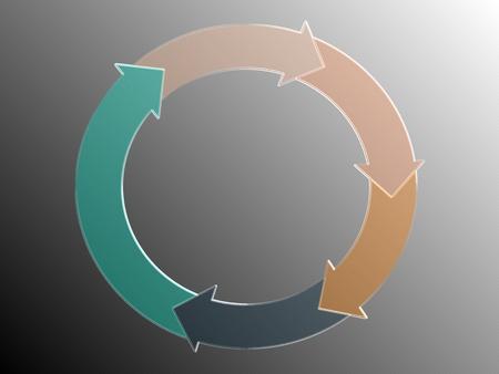 sobrio: Los ingresos fluir gr�fica de flechas circulares, sobrio y elegante