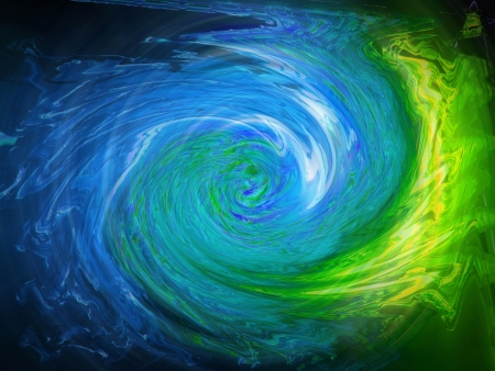 Bright clockwise swirling waters abstract background