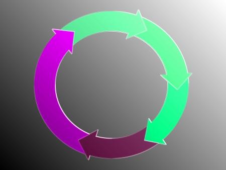 Cycle, recycle, arrows, circular, circle, graphic Stock Photo - 14559435