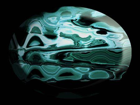 cabochon: Blu cabochon color agate su sfondo nero