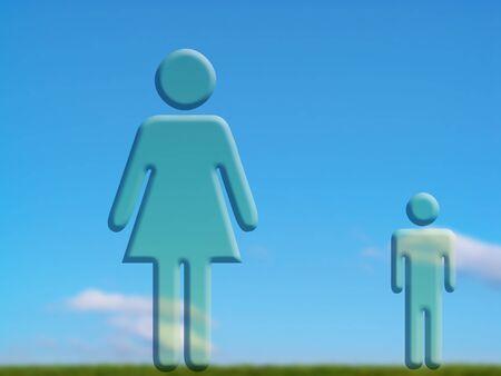 dualism: Pares de las mujeres y los hombres se fusion� con el campo de la naturaleza