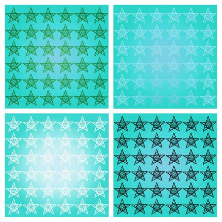 Turquoise blue stars backgrounds as mosaic background Stock Photo - 14577965