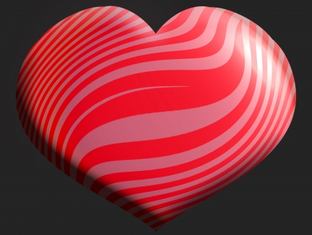 Red and pink heart shape balloon photo