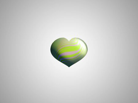 Light green eco heart balloon isolated in silver background photo