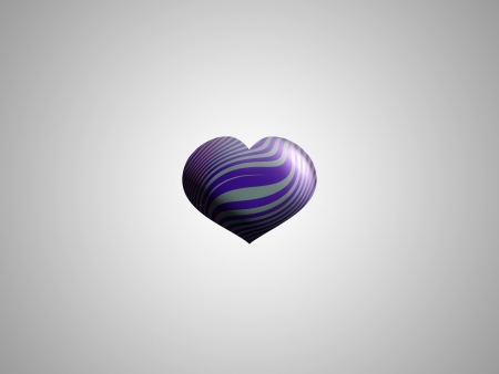 spermatozoid: Violet little heart balloon in grey backdrop