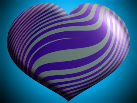 aniversaries: Violet heart with zebra stripes