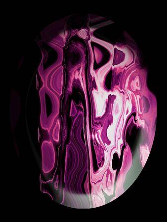cabochon: Agata cabochon color rosa su sfondo nero