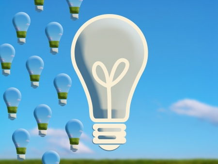 Light bulbs difference photo