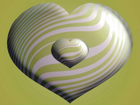 Olive green sober elegant hearts photo