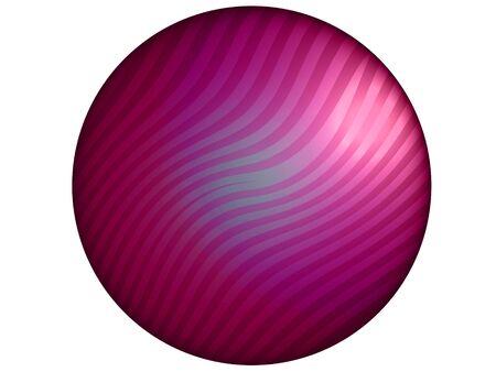 Pink metallic isolated button on white background photo