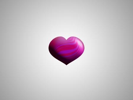 Fuchsia heart in grey backdrop Stock Photo - 15750367