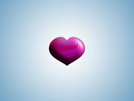 Pink heart balloon centered in light blue background photo