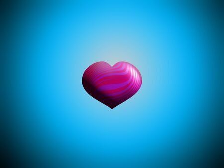 spermatozoid: Pink heart flying balloon over blue
