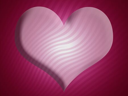 Heart shape striped abstract background photo