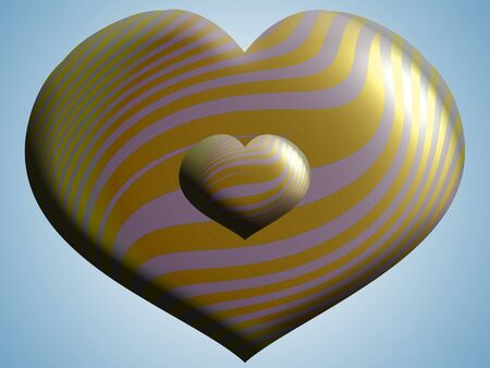 Golden hearts photo
