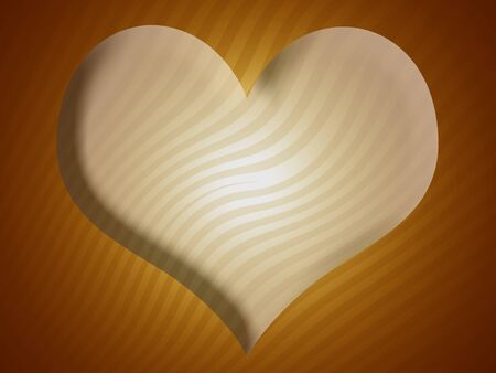 Heart in abstract yellow ochre background photo