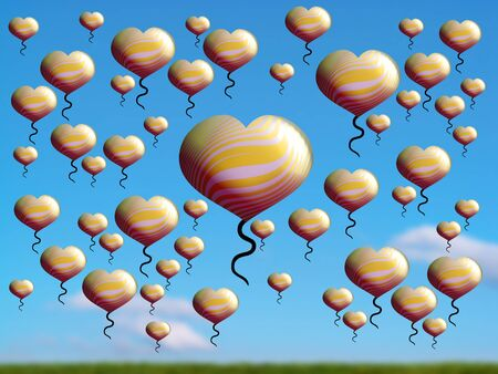 aniversaries: Plenitude, economy, save, light, balloons, flying, gold, field