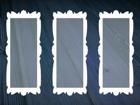 Three rectangular transparent empty blanck frames Stock Photo - 15751600