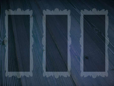 Blue rectangles on striped old wood Stock Photo - 15751604