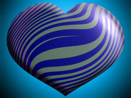 aniversaries: Blue stripes on grey helium heart balloon Stock Photo