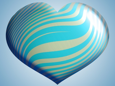 Light aqua blue heart photo