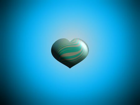 Blue heart balloon shape over turquoise background photo