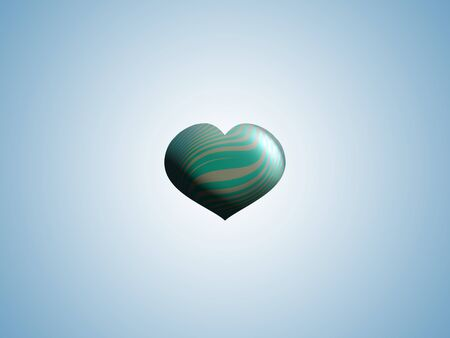 Light blue background with small heart Stock Photo - 15751330