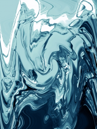 cian: Cian metallic liquid painting in abstract background