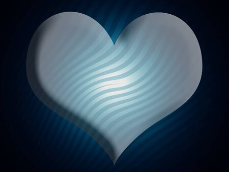 Blue heart shaoe background photo