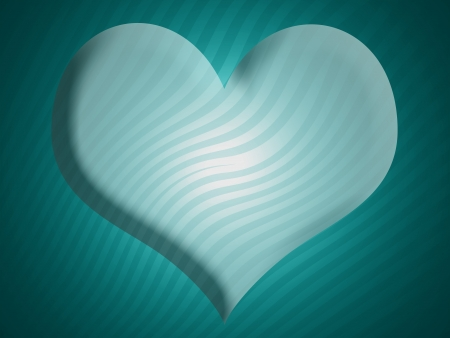 cian: Cian heart with stripes in abstract background