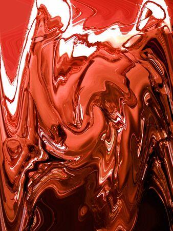 water reflection: Orange liquid painting vertical background Stock Photo